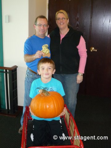 Patrick & Jeff L. as they head off with their pumpkin